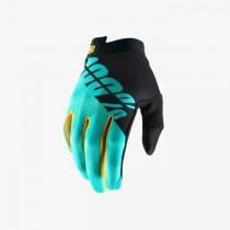100% itrack mtb gants de cyclisme noir aqua bleu