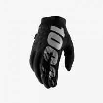 100% brisker mtb gants de cyclisme noir gris