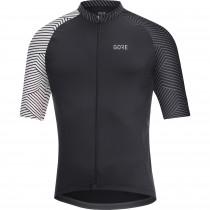 Gore C5 + optiline maillot de cyclisme manches courtes noir blanc