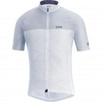 Gore C3 optiline maillot de cyclisme manches courtes blanc gris