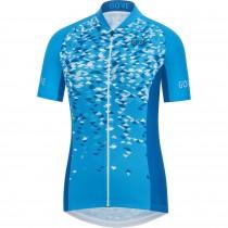 Gore C3 petals maillot de cyclisme manches courtes femme cyan bleu ciel bleu