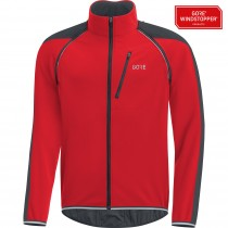 Gore C7 gore windstopper phantom zip-off veste de cyclisme rouge noir