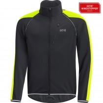 Gore C3 gore windstopper phantom zip-off veste de cyclisme noir neon jaune