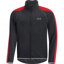 Gore C3 gore windstopper phantom zip-off veste de cyclisme noir rouge