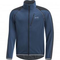 Gore C3 gore windstopper phantom zip-off veste de cyclisme deep water bleu noir