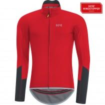 Gore C5 gore windstopper maillot de cyclisme manches longues rouge
