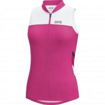 Gore C5 maillot de cyclisme sans manches femme raspberry rose blanc