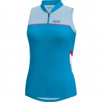 Gore C5 maillot de cyclisme sans manches femme cyan bleu ciel bleu