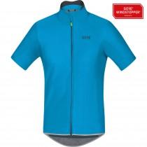 Gore C5 gore windstopper maillot de cyclisme manches courtes cyan bleu