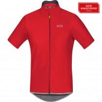 Gore C5 gore windstopper maillot de cyclisme manches courtes rouge