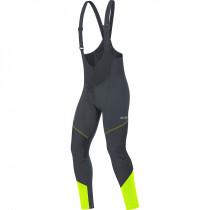 Gore C3 Gore Windstopper® Bib Tights+ - Black/Neon Yellow