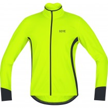 Gore c5 thermo maillot de cyclisme manches longues neon jaune noir