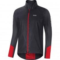 Gore C5 gore-tex shakedry 1985 viz veste de cyclisme noir rouge