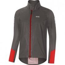 Gore® C5 gore-tex® shakedry™ 1985 viz veste de cyclisme lava gris rouge