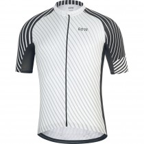 Gore C3 maillot de cyclisme manches courtes blanc noir (100450)