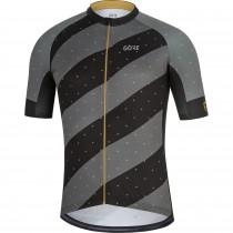 Gore C3 maillot de cyclisme manches courtes noir laiton doré (100451)
