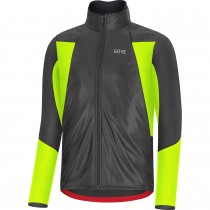 Gore C5 gore-tex infinium soft lined thermo veste de cyclisme noir neon jaune
