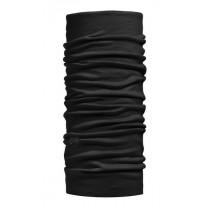 BUFF Lightweight Merino Wool Solid Black Nekwarmer