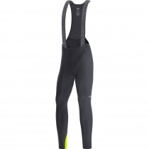 Gore C3 Thermo Bib Tights+ - black/neon yellow
