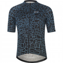 Gore Wear Gotham Jersey Mens - Black/Sphere Blue