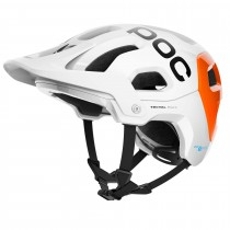 Poc tectal race spin nfc casque de cyclisme hydrogen blanc fluorescent orange avip