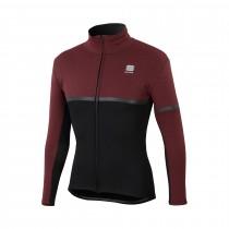 Sportful giara softshell veste de cyclisme noir ruby wine