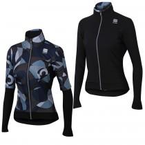 Sportful primavera swith thermal veste de cyclisme femme noir gris