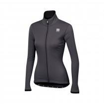 Sportful luna softshell veste de cyclisme femme anthracite noir