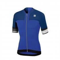 Sportful strike maillot de cyclisme manches courtes bleu cosmic twilight bleu