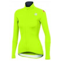 Sportful fiandre light norain w top maillot de cyclisme manches longues femme fluo jaune