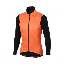 Sportful fiandre strato wind veste de cyclisme orange sdr noir