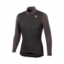 Sportful lord thermo veste de cyclisme titanium marron