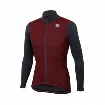 Sportful lord thermo veste de cyclisme ruby wine anthracite