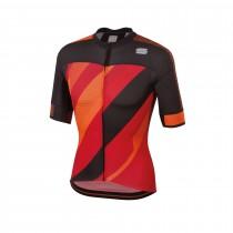 Sportful bodyfit pro 2.0 x maillot de cyclisme manches courtes rouge orange sdr noir