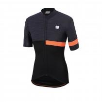 Sportful giara maillot de cyclisme manches courtes noir orange sdr
