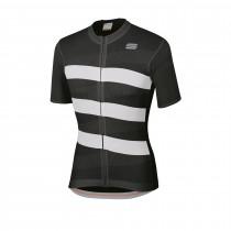 Sportful team 2.0 ribbon maillot de cyclisme manches courtes noir blanc