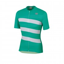 Sportful team 2.0 ribbon maillot de cyclisme manches courtes bora vert blanc