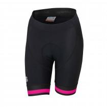 Sportful bodyfit classic cuissard de cyclisme courtes femme noir bubblegum rose