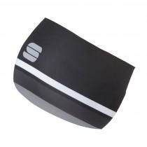 Sportful diva hoofdband zwart donker grijs wit