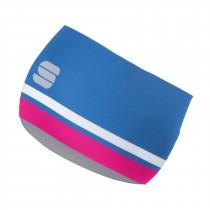 Sportful diva hoofdband parrot blauw bubblegum roze wit