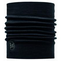 Buff Heavyweight Merino Wool Nekwarmer Solid Black