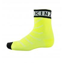 Sealskinz super thin pro ankle chaussette de cyclisme imperméable avec hydrostop hi-vis jaune
