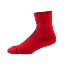 SEALSKINZ Road Ankle Sock With Hydrostop Red Black