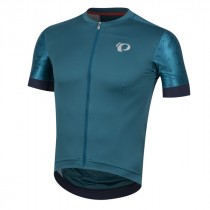 Pearl Izumi elite pursuit speed maillot de cyclisme manches courtes teal navy paisley bleu