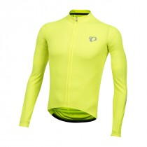 Pearl Izumi select pursuit maillot de cyclisme manches longues screaming jaune noir diffuse