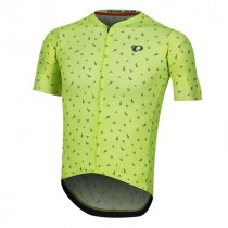 Pearl Izumi pro mesh maillot de cyclisme manches courtes screaming jaune navy paisley