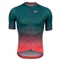Pearl Izumi Shirt Interval Pine/Atomic Red Transform