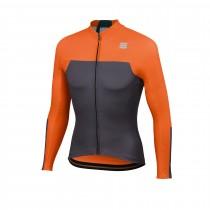 Sportful bodyfit pro thermal maillot de cyclisme à manches longues anthracite orange sdr