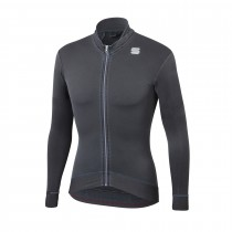 Sportful monocrom thermal maillot de cyclisme à manches longues anthracite