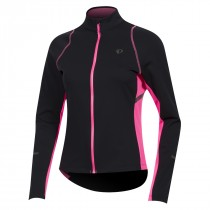Pearl Izumi select escape maillot de cyclisme manches longues femme noir screaming rose